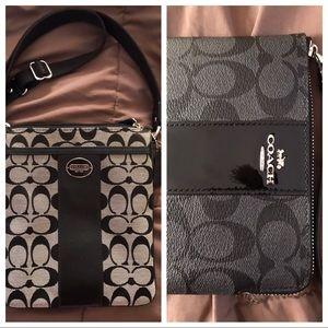 Coach crossbody bag & wristlet